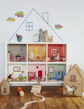 hacer casa de muñecas casera